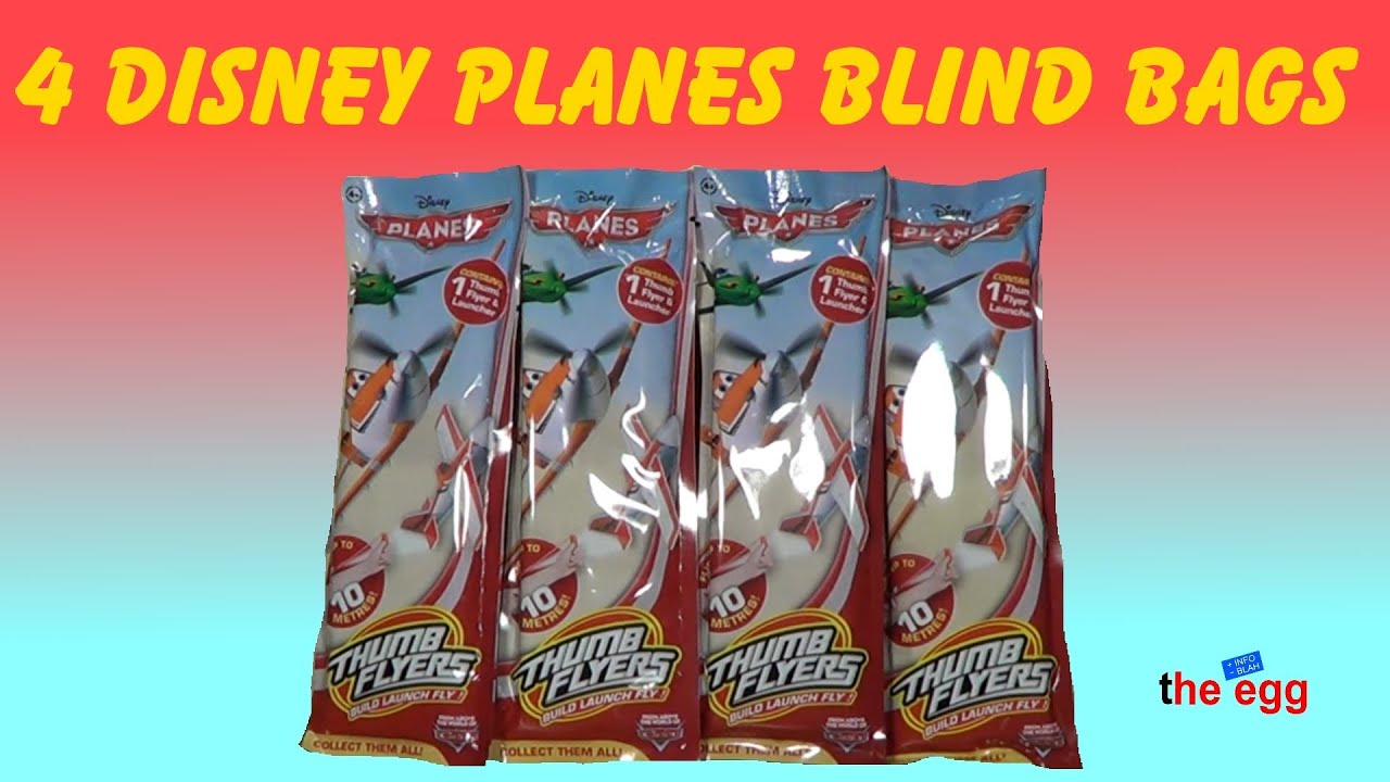 4 Blind Bags Disney Planes Thumb Flyers Opening Unboxing Toys Build Launch And Fly Youtube