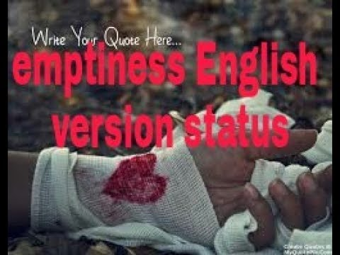very romantic & pain full 💔emptiness English version whatsapp status by all over tips