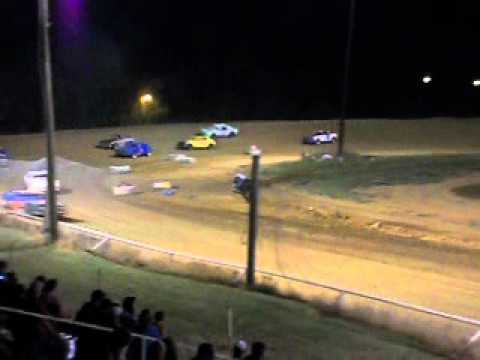 Mini Stock Race at Beebe Speedway 6-1-12 part 1