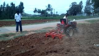 VST Mitsubishi 18.5 HP Mini tractor dry tilling