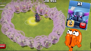 1 pekka + 1000 healer will she stay alive ? | clash of clans | coc