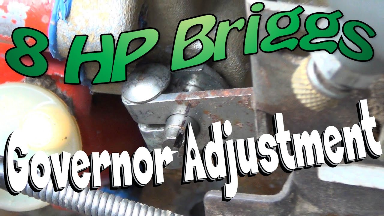8 Hp Briggs Governor Adjustment Youtube Stratton Spring Diagram Car Tuning