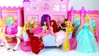 Barbie Doll Expandable Carriage Princess Doll New Dresses Putri Barbie Gaun Vestidos Princesa