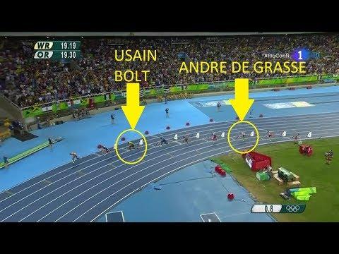 Usain Bolt vs Andre De Grasse on 200m, 100m & 4x100m Relay
