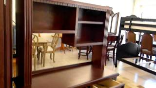 Student Desk With Hutch Cherry Color