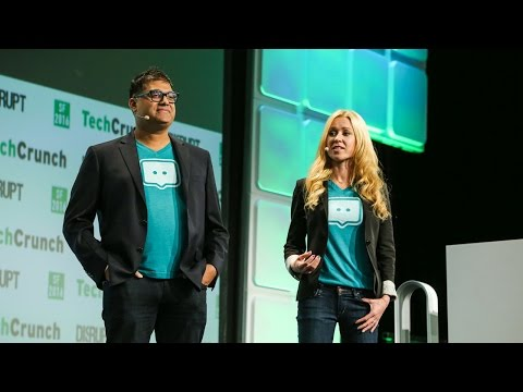 Video of Jalali with the rest of his team in                               Sensay                              at                               TechCrunch Disrupt New York
