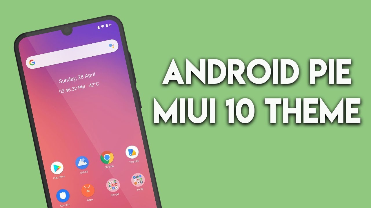 No 1 Android Pie MIUI 10 THEME for Xiaomi Phones | हिन्दी