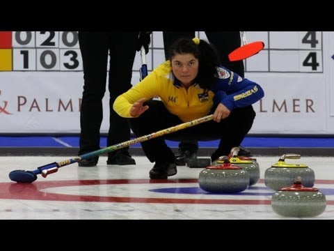 CURLING:World Mixed Doubles Chp 2013 - Group C  SWE-SCO