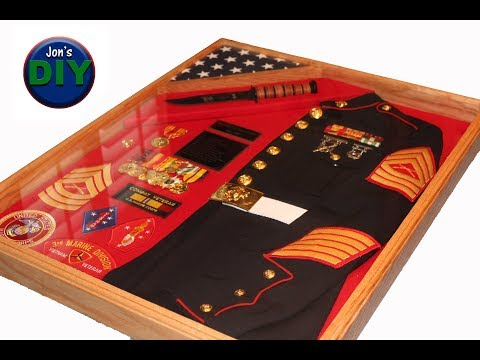 DIY Marine Shadow Box with Jacket & Knife