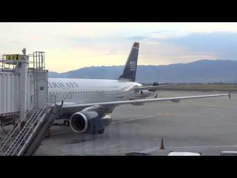 USAirways A320 / Takeoff from Salt Lake City (HD Video)