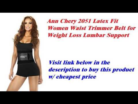 e2edd05a6a9 Ann Chery 2051 Latex Fit Women Waist Trimmer Belt for Weight Loss Lumbar  Support - YouTube