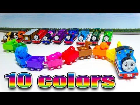 Thomas & Friends learn 10 colors きかんしゃトーマス 英語で色を覚えよう!