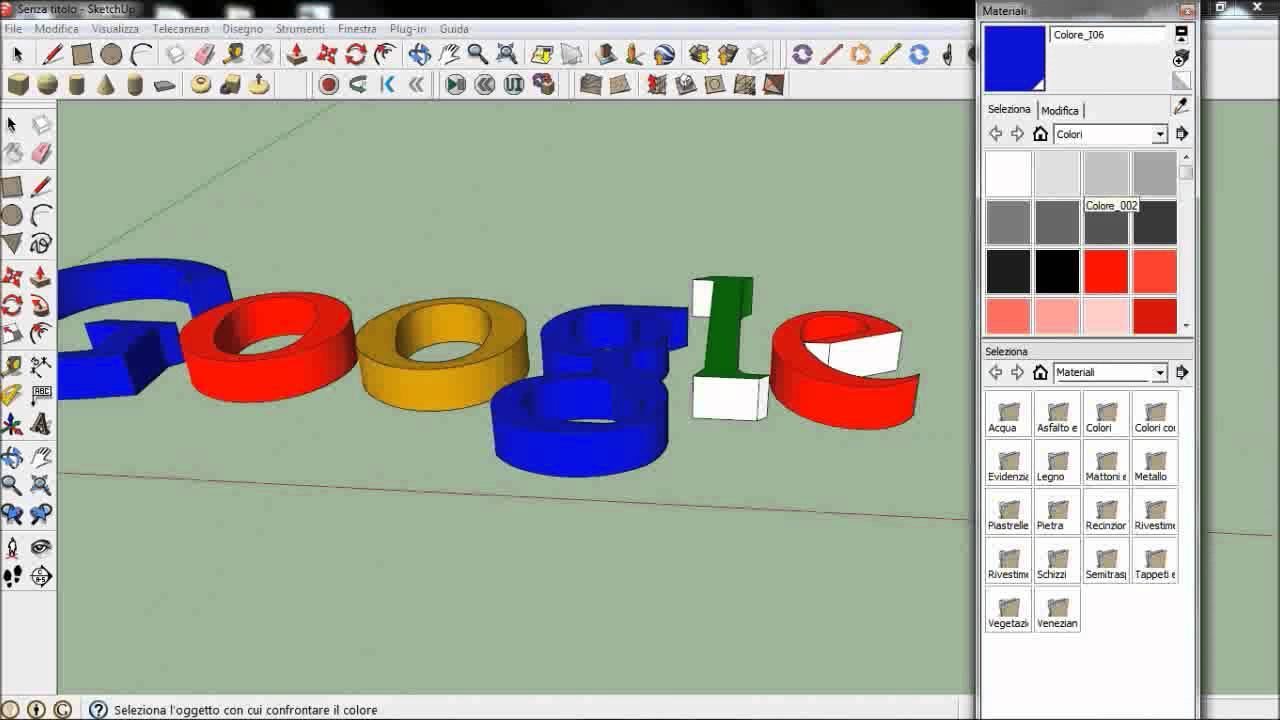 Come fare un logo 3d con google sketchup how to make a for Fare una casa online gratis 3d