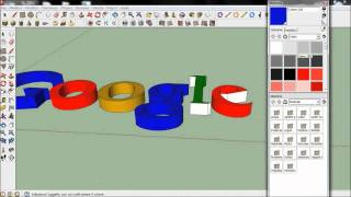Come fare un logo 3d con google sketchup - How to make a 3d logo with google sketchup