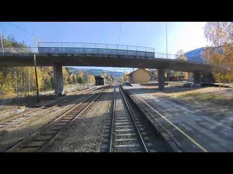 bergen to oslo train ride 12x speed