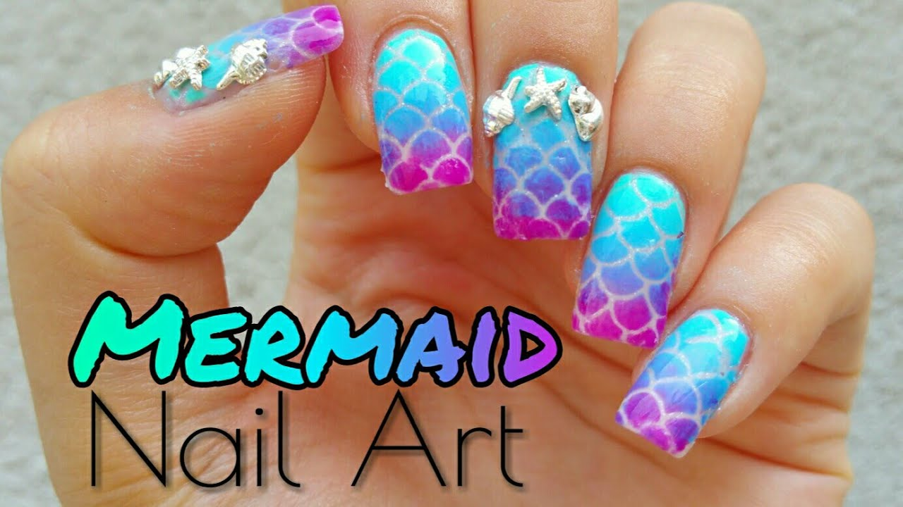 Scale Mermaid Nail Art