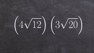 Multiplying Two Radical Binoṁials by Simplifying First
