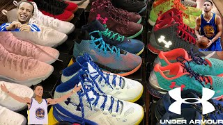 BEST STEPHEN CURRY SHOE COLLECTION! UNDER ARMOUR BASKETBALL