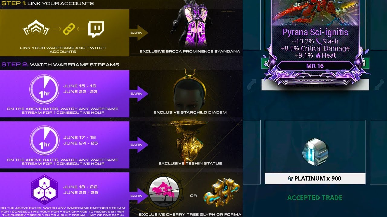 Warframe Updated Twitch Drops | Limbo Prep