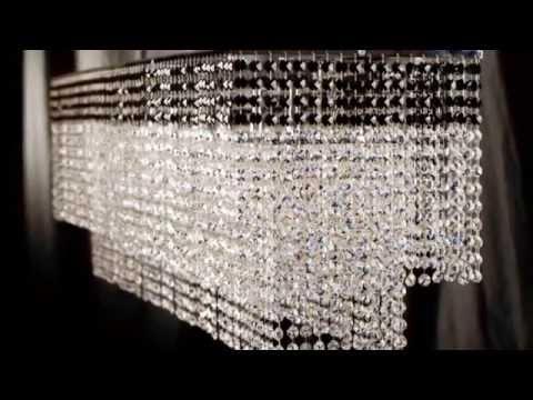 Lámparas de Cristal de Swarovski y Asfour. Lámparas Hechas en España Videos De Viajes
