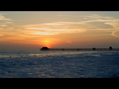 Relaxing Smooth Jazz set to a photograph of the sun setting behind the Oceanside Pier in California