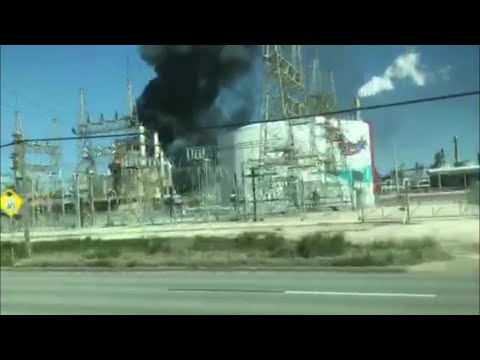 Valero Oil Refinery Fire
