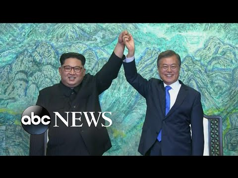 Leaders from North, South Korea vow to sign peace treaty to end war