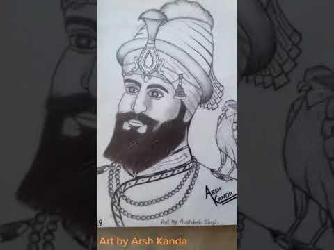 @arshkanda123 #my_tiktok Video#sketch Guru Gobind Singh Ji