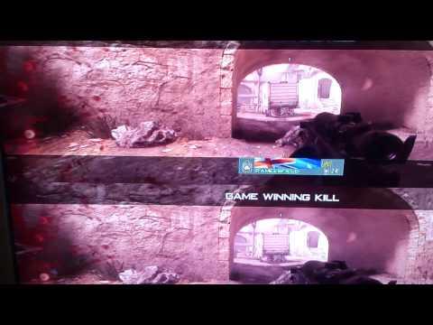 Basic mw3 trickshot no scope to pee of cuz