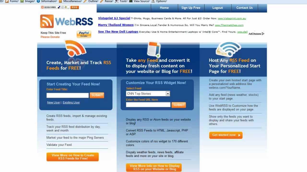 RSS Reader For Your Website