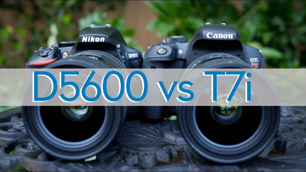 Canon EOS T7i vs Nikon D5600 Comparison