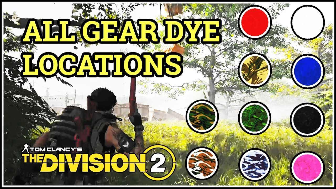 division 2 gear dye locations