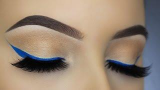 Easy Blue Eye Liner Makeup Tutorial