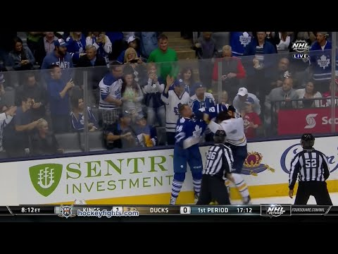 Mike Weber vs Colton Orr Sep 28, 2014
