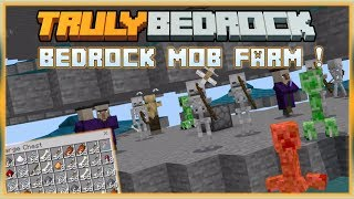 Truly Bedrock S0 EP12 : Mob Farm ! [ Minecraft, MCPE, Bedrock Edition,Windows 10 ]