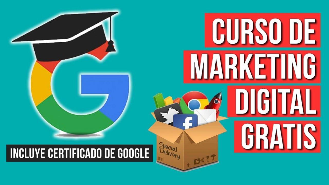 Curso De Marketing Digital Gratis Con Certificado De Google Youtube