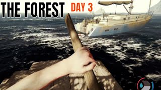 The Forest | PS4 | DAY 3 - Building a Raft & SAILING