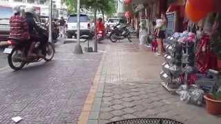 Phnom Penh city on Monivong Blvd , and Kampuchea Krom Street