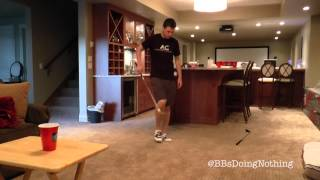 This beer pong golf shot will blow your mind!