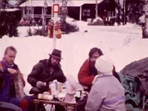 1992 motorcyclists winter meeting in Finland, near Kotka
