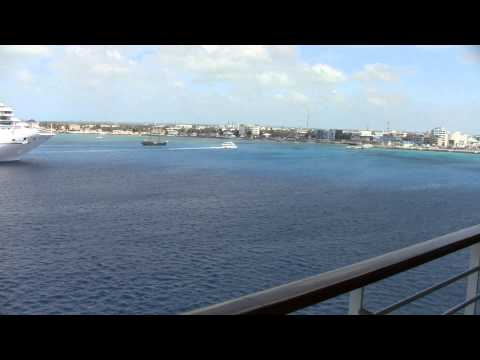Carnival Inspiration - View at Cayman Island of Other Cruise Ships (1080p)