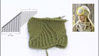 How to knit the hat in DROPS 192-4