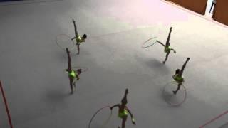 Художественная гимнастика  Групповые  Обруч(Соревнования по художественной гимнастике в групповых упражнениях с обручем. Команда УСиТ 2006-2007 г.р., 2016-03-09T18:44:18.000Z)