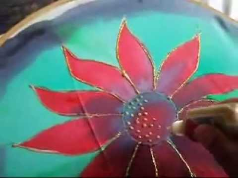 Silk painting of a flower youtube silk painting of a flower mightylinksfo