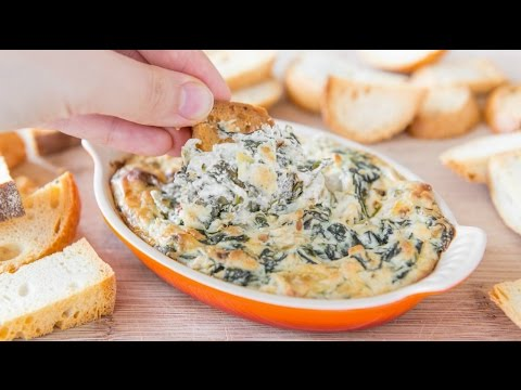 SPINACH ARTICHOKE DIP RECIPE - FOOTBALL AND PARTY FOOD!