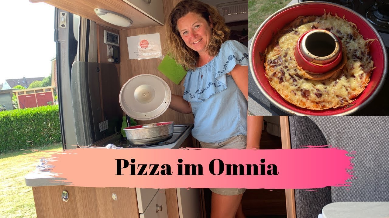 pizza im omnia backofen kochen im wohnmobil 16 youtube. Black Bedroom Furniture Sets. Home Design Ideas