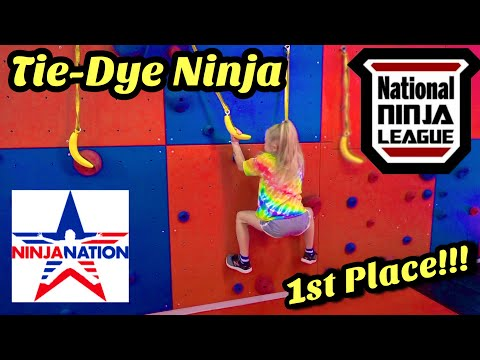 when she takes 1st at the NNL Course Qualifier at Ninja Nation - Tie-Dye Ninja