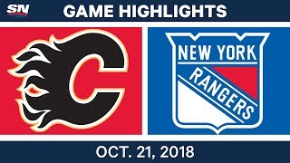 NHL Highlights | Flames vs. Rangers - Oct. 21, 2018