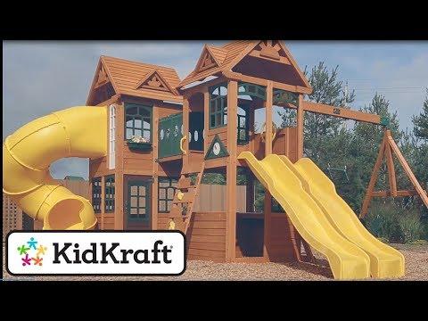 Cedar Summit By KidKraft Kingsbridge Wooden Playset Toy Demo