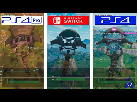 Fortnite | Switch vs PS4 vs PS4 Pro | Framerate Test | FPS Comparison